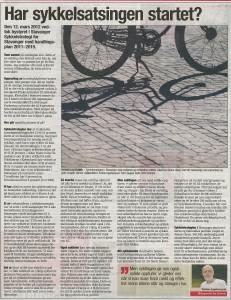har sykkelsatsingen startet?