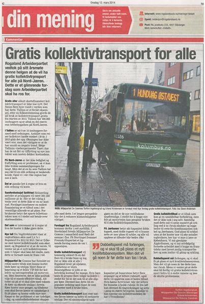 Gratis kollektivtransport for alle